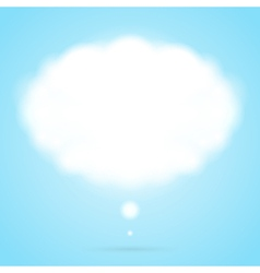 Abstract cloud speech bubble vector image