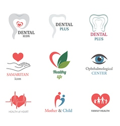 Set of medical icons logo design elements vector