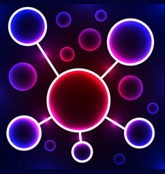 Abstract molecule stylized atom scientific vector
