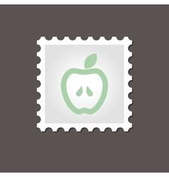 Apple stamp outline vector