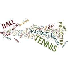 Are you a tennis player text background word vector