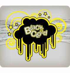 black cloud vector image vector image