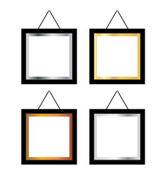 Blank photo frame on white background blank photo vector