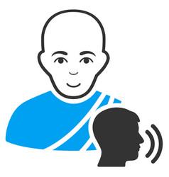 buddhist confession flat icon vector image