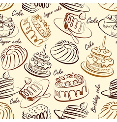cakes seamless3 vector image vector image