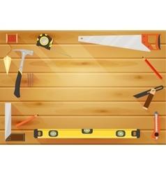 Carpenter tools flat background vector