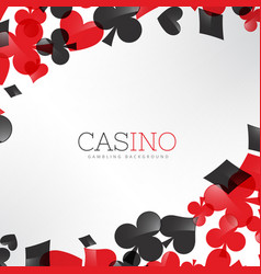 casino background with playing cards symbols vector image