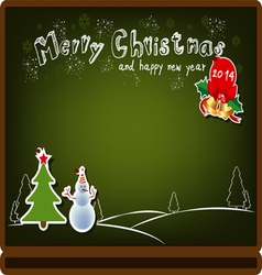 christmas board background vector image vector image
