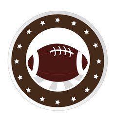 Circular border with football ball and decorative vector