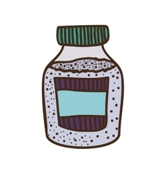 Colorful bottle with salt and pepper vector