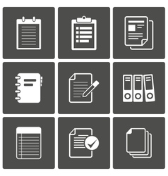 Documents Icons Notepad paper vector image