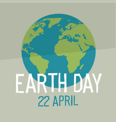 earth day poster design in flat style similar vector image vector image