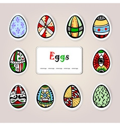 Easter holiday eggs vector