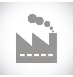 Factory black icon vector