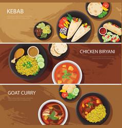Halal food web banner flat design vector