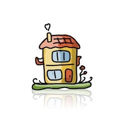 House icon sketch for your design vector image