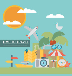 Icons and concepts in flat style - travel and vector
