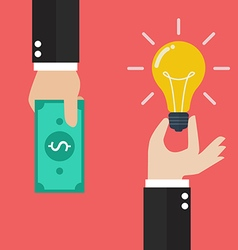Idea trading for money vector image vector image