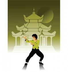 kung-Fu vector image vector image