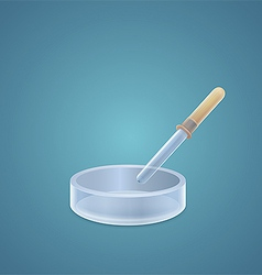 Low cup with a pipette vector