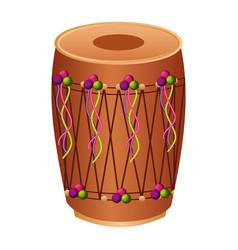 Musical instrument punjabi drum dhol indian vector