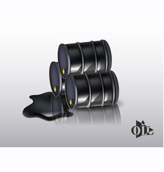 Oil barrels on a white background vector