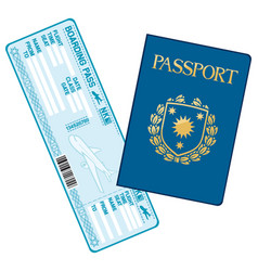 passport and airline boarding pass ticket vector image