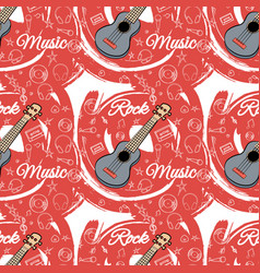 pattern seamless guitar-02 vector image vector image