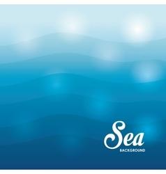 Sea design blue background Colorful vector image