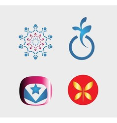 Set of logo and icons vector image vector image