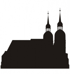 silhouettes of church vector image vector image