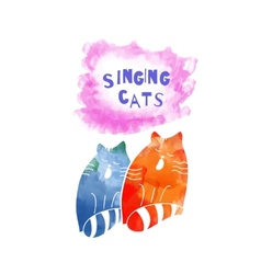 Singing cats vector