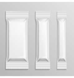 Stick plastic packs set for snack product vector image