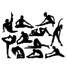 Stretching and exercises sport vector