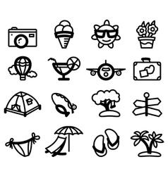 Summer glyphs vector