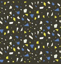 terrazzo flooring dark seamless pattern vector image vector image