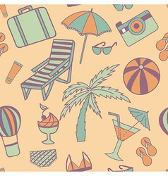 Travel touristic seamless pattern with trip vector image