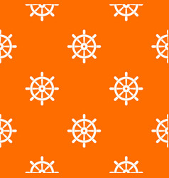 wooden ship wheel pattern seamless vector image vector image