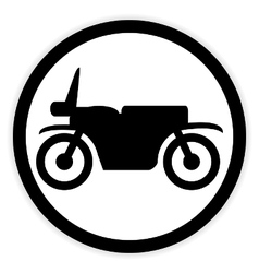 Motorcycle button on white vector