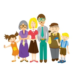 Cartoon family vector
