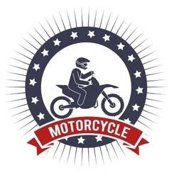 motorcycle extreme sport banner design vector image