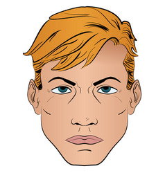 a man in a pop art style pattern vector image