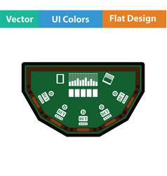 Poker table icon vector