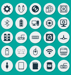 Computer icons set collection of wireless vector
