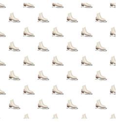 white figure skates pattern vector image