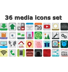 36 media set icons vector