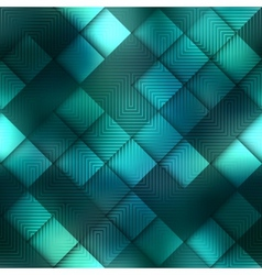 Matrix geometric pattern on green background vector