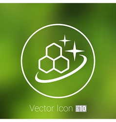 Molecule icon isolated glossy shiny atom vector