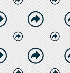 Arrow right next icon sign seamless pattern with vector