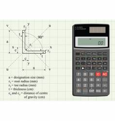 Scientific calculator vector
